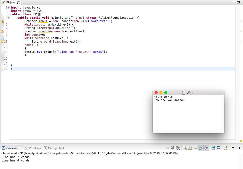 Solved: Create A Java Program That Reads A Text File  Have