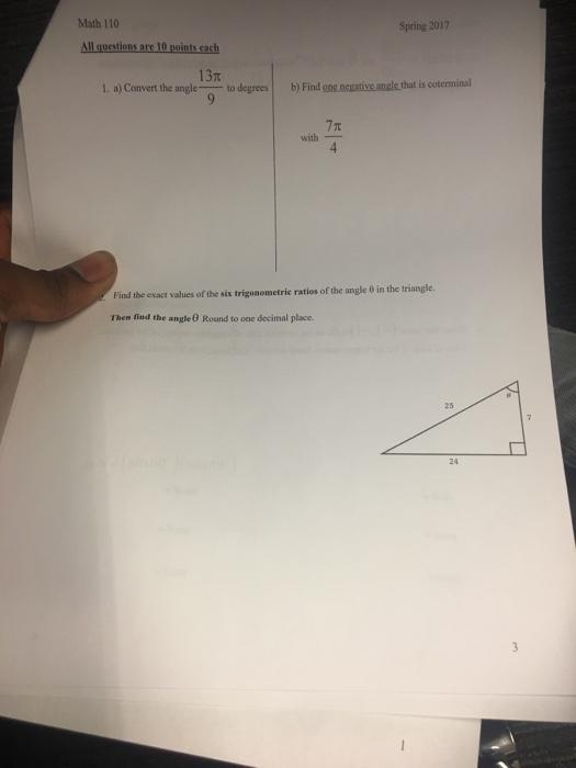 Trigonometry Archive | March 13, 2017 | Chegg.com
