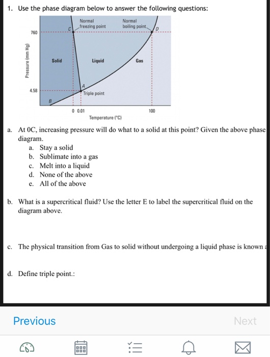 Solved  1  Use The Phase Diagram Belowto Answer The Questi
