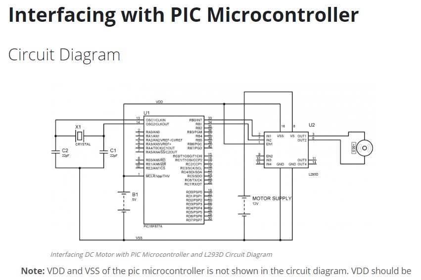 solved write the about interfacing dc motor with pic micr