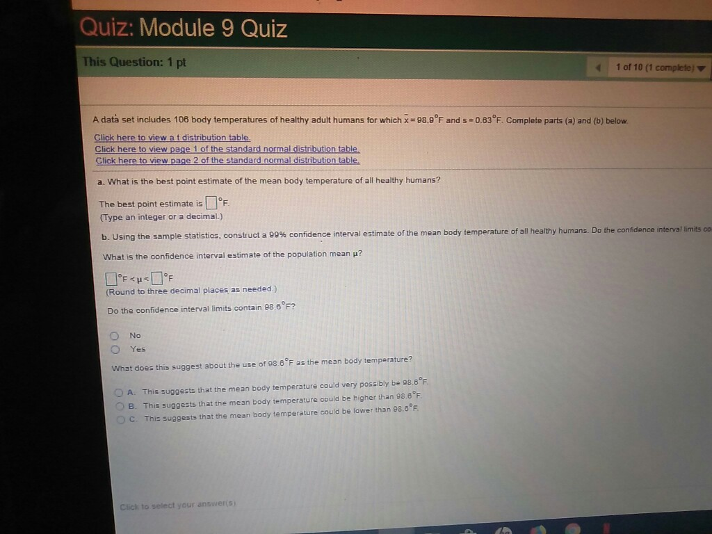 Solved: Quiz: Module 9 Quiz This Question: 1 Pt 41 Of 10