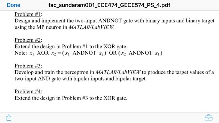 Solved: Done Fac_sundaram001_ECE474 GECE574 PS_4 pdf Probl