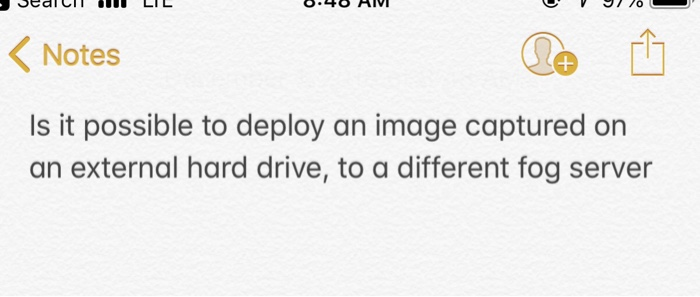 Solved: < Notes Is It Possible To Deploy An Image Captured