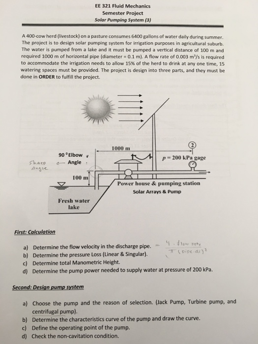 EE 321 Fluid Mechanics Semester Project Solar Pump