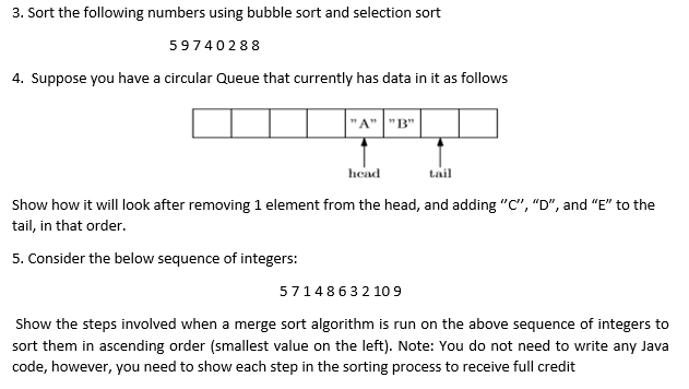Solved: 3  Sort The Following Numbers Using Bubble Sort An