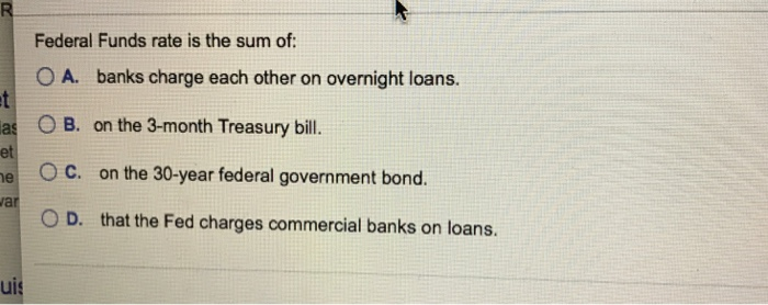 Overnight Loans To Commercial Banks
