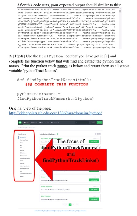 Solved: Problem: Crawling A Website And Parsing The Text T