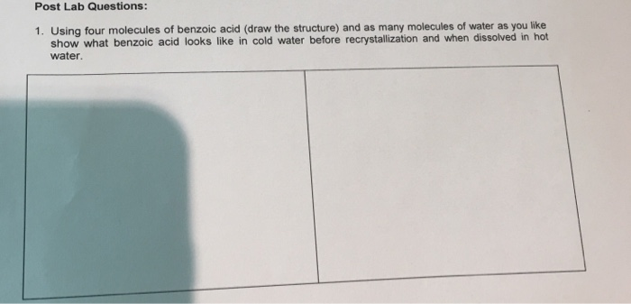 Solved Post Lab Questions 1 Using Four Molecules Of Ben