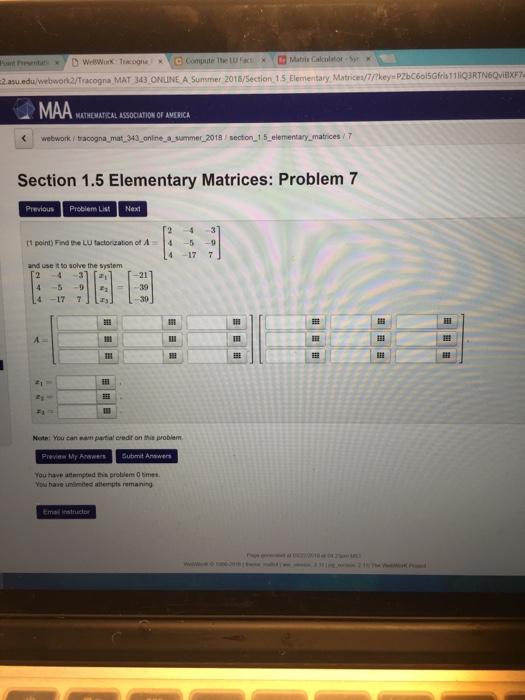 P D Weework Tracognaxc Compute The Lwa Matrix Calculator Sn X Point Presentati 2asu