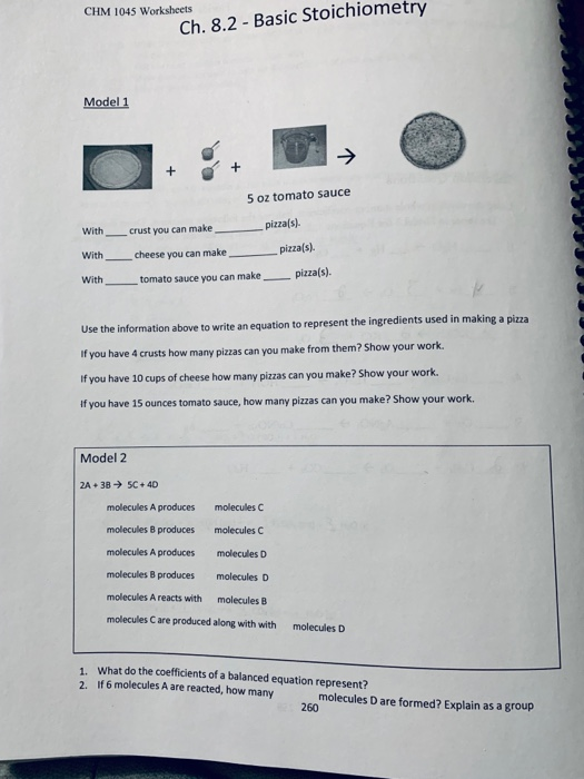 Answers To Worksheet For Basic Stoichiometry - Inspiracao