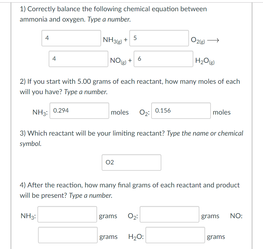 Solved 1 Correctly Balance The Following Chemical Equati