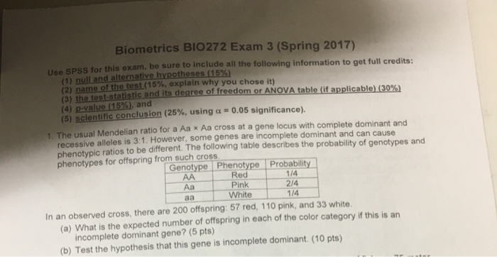 Solved: Use SPSS For This Exam, Be Sure To Include All The