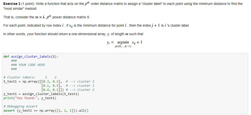 Write A Function That Acts On The Pth Order Distan    | Chegg com