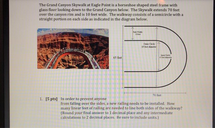Solved The Grand Canyon Skywalk At Eagle Point Is A Horse