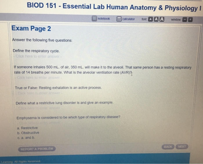 Solved: BIOD 151 -Essential Lab Human Anatomy & Physiology ...