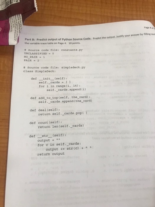Solved: Page & Of Part C: Find Errors In Python Source Cod