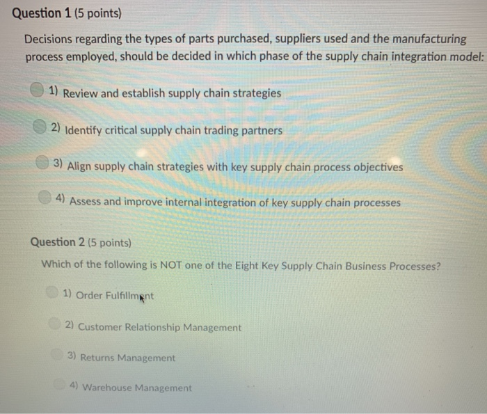 Solved: Question 1 (5 Points) Decisions Regarding The Type