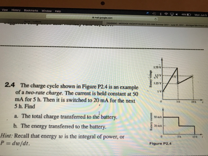Solved The Charge Cycle Shown In Figure P2 4 Is An Exampl