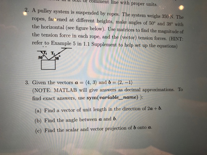 Solved: Comment Lll L Lell Ur Line With Proper Units  A Pu