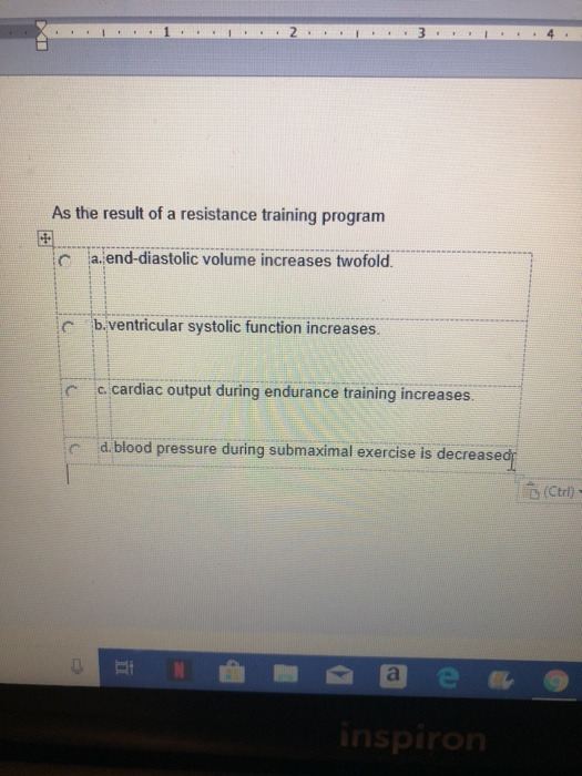 Solved: As The Result Of A Resistance Training Program End