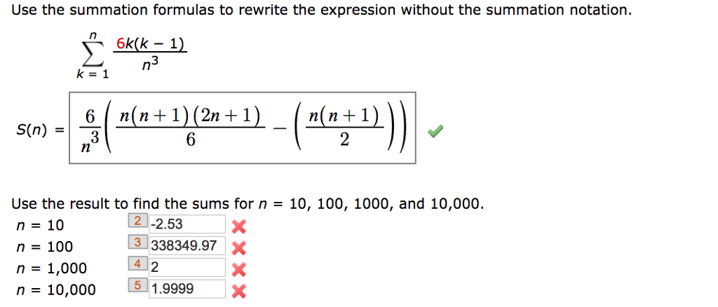 Solved Use The Summation Formulas To Rewrite The Expressi