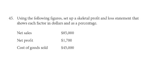 solved 45 using the following figures set up a skeletal