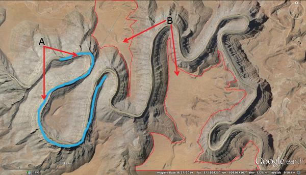 San Juan River Utah Map.Solved The Goosenecks Of The San Juan River Are Located I