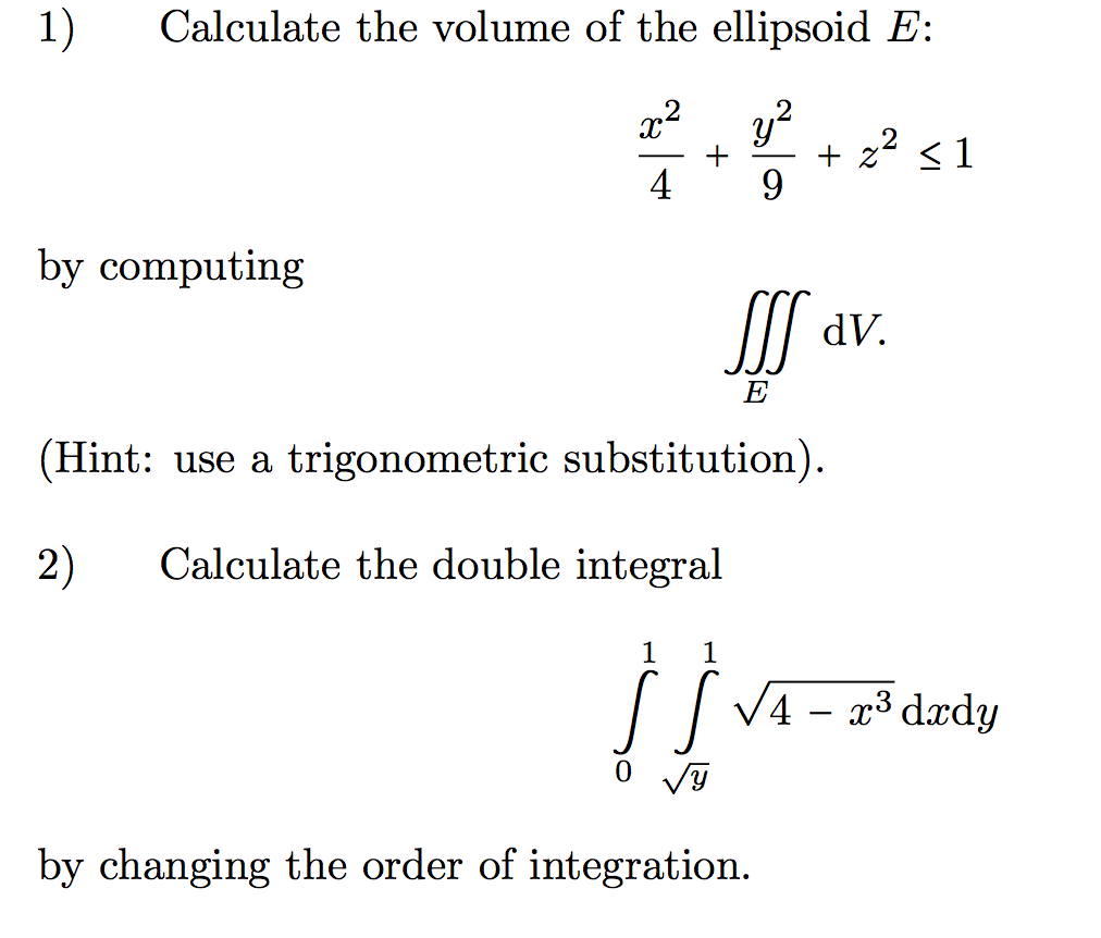 compute the intersection volume of two hyper ellipsoids On minimum-volume ellipsoids:  we can similarly derive the minimum-volume ellipsoid containing the intersection of two balls  analyzed an algorithm to compute a.