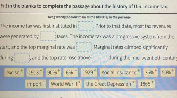 Solved: Fill In The Blanks To Complete The Passage About T
