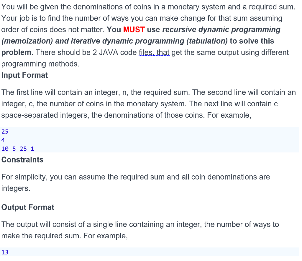 Solved: This Is To Be Written In JAVA 8  Please Make Sure