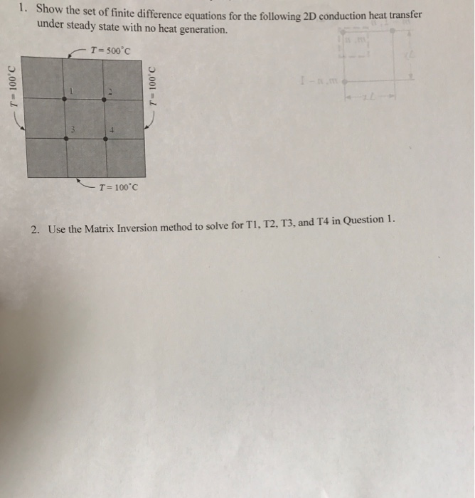 Solved: L  How The Set Of Finite Difference Equations For