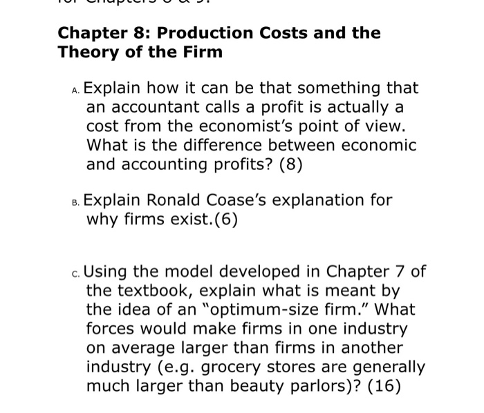 optimal size of a firm Firms with a prolonged period of constant returns to scale are common in food and fish processing 53 basics of cost functions a fundamental point in the analysis of costs is the functional relationship that exists between costs and the production for a period of time a cost function presents different results when the plant works with different.