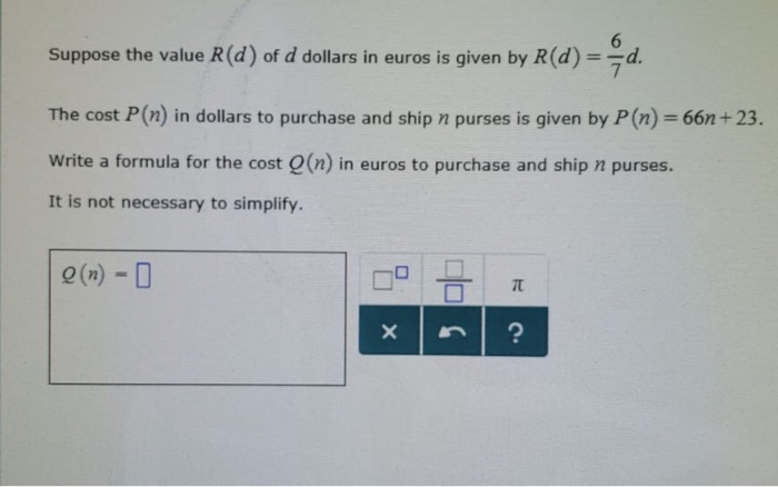 Solved Suppose The Value R D Of