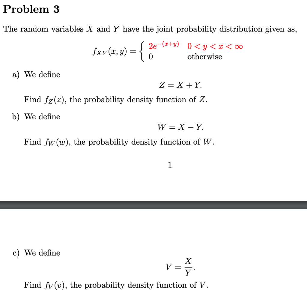 Solved: Problem 3 The Random Variables X And Y Have The Jo