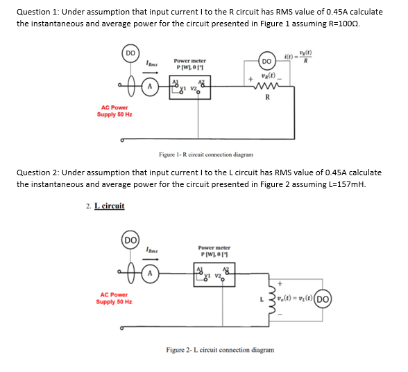 Solved: Question 1: Under Assumption That Input Current I