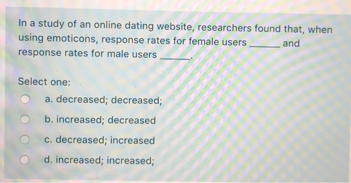 dating site respons rate