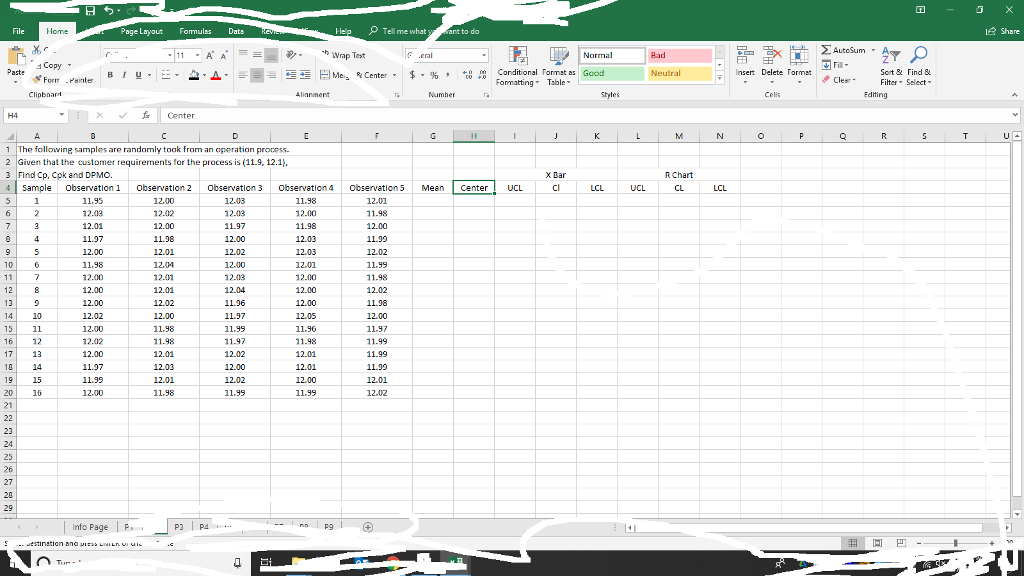 Solved: Show Work And Formulas In Excel  Dont Forget To An