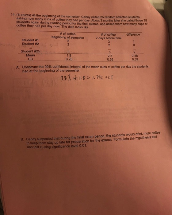 Solved: 14  (8 8 Points) At The Beginning Of The Semester