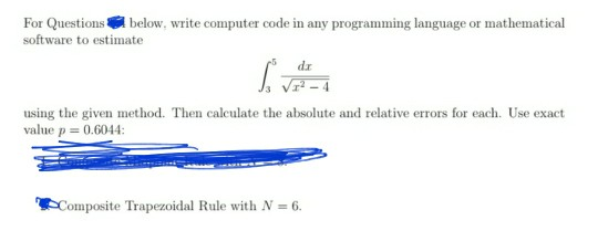 Solved: For Questions Below  Write Computer Code In Any Pr