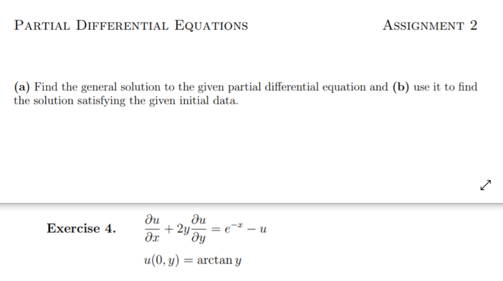 Solved: PARTIAL DIFFERENTIAL EQUATIONS AsSIGNMENT 2 (a) Fi