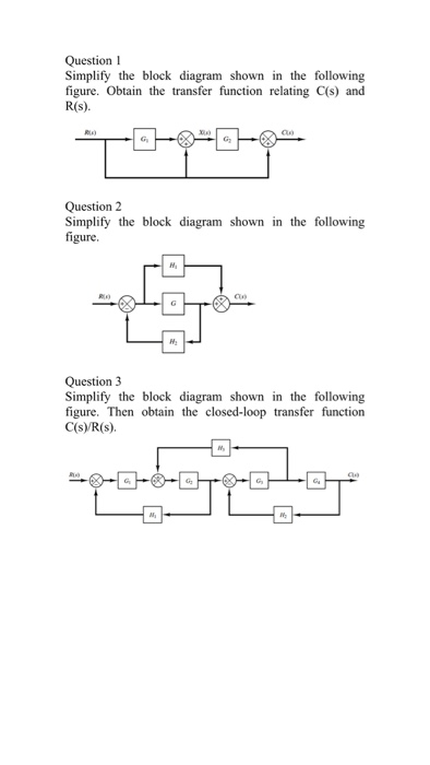 Solved  Simplify The Block Diagram Shown In The Following