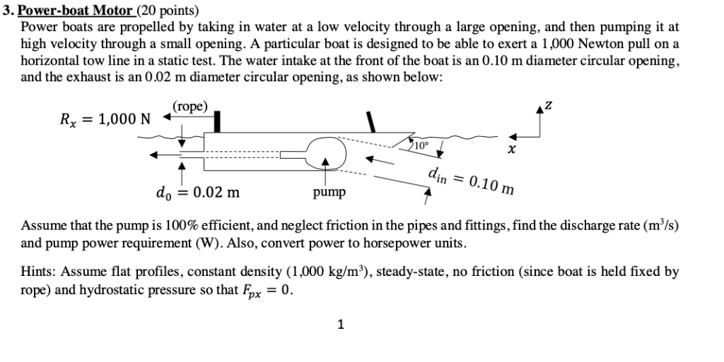 power-boat motor (20 points) power boats are propelled by taking