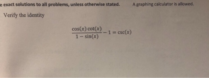 E Exact Solutions To All Problems Unless Otherwise Stated A Graphing Calculator Is Allowed