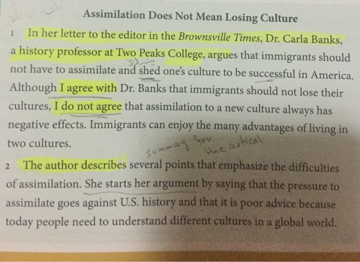 should immigrants assimilate essay