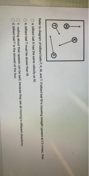 media%2F09f%2F09f24b08 2630 4b93 b736 94391e4b93a9%2Fimage solved refer to diagram of billiard balls f, k, m, and t