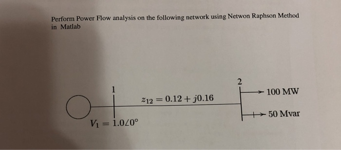 Solved: Perform Power Flow Analysis On The Following Netwo