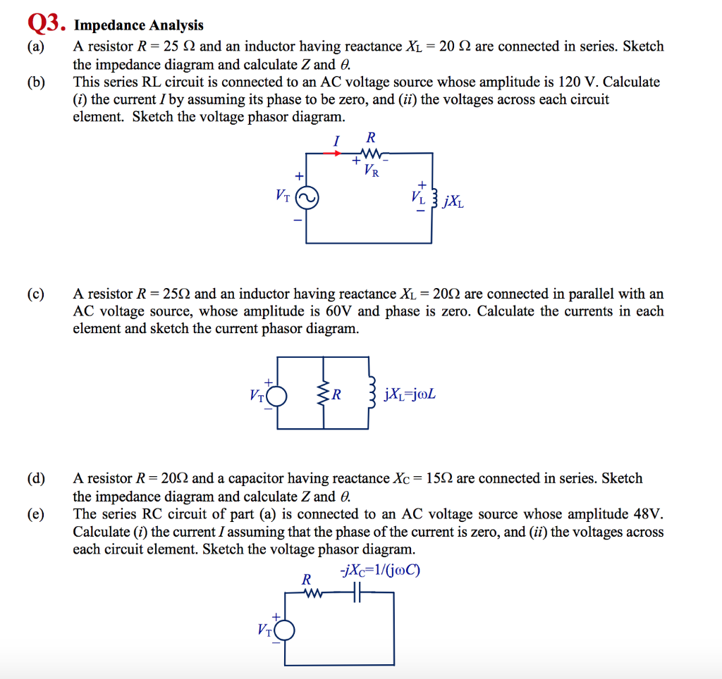 Admirable Solved Impedance Analysis A A Resistor R 25 And An Wiring Cloud Pendufoxcilixyz