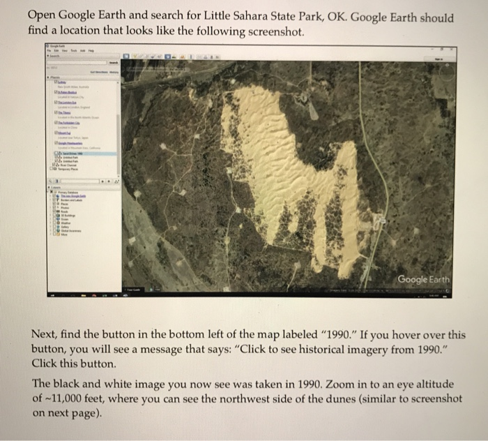 Solved: Open Google Earth And Search For Little Sahara Sta