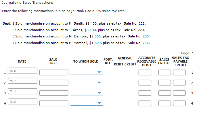 Solved: Journalizing Sales Transactions Enter The Followin