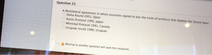 Solved Question 25 A Multilateral Agreement In Which Coun